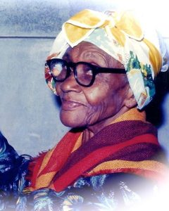 my Grandmother, who showed me how to remove witches' broom from cocoa trees. She introduced me to reading, writing, poetry, public speaking and by age four, not to the 110-year old school mother attended, but to the headmaster of a school Adventists opened thirty years earlier in the village of Moriah, Tobago.