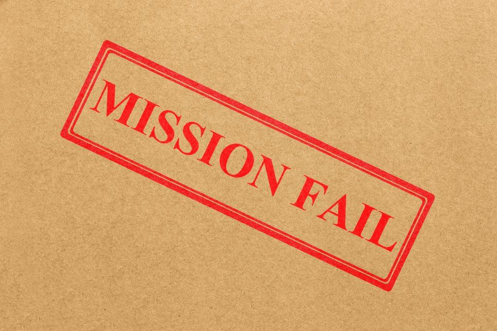 Mission fail